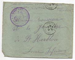 Guerre 1914-18--Lettre De VINCENNES Pour St HERBLON-44 --cachet Militaire 2ème Régiment Artillerie Lourde + St Herblon - Marcophilie (Lettres)