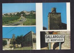 CPSM 30 - GALLARGUES Le MONTUEUX - TB CP Multivue Dont Vue Générale , La Tour , Le Temple Et Monument - Gallargues-le-Montueux