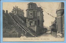 Villers-sur-Mer (14) Rue Alfred-Feine 2 Scans Carte Annotée Avec Des Noms De Famille (Cassuernes ? Camus ?) - Villers Sur Mer