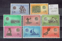 Indonésie-indonesia - 351-358 MNH - Indonésie
