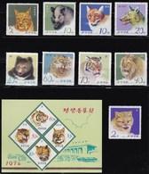 COREA DEL NORD 1974 ANIMALI SELVATICI - Corea Del Nord