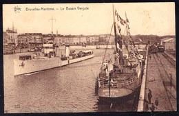 BRUXELLES MARITIME - LE BASSIN VERGOTE - Tb état - Maritiem