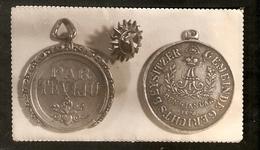 K Old 2 Photos Badge Liivimaa Kubermang WENDENSCHER KREISS Alexander I 1820 / Medal Of Honour Of Order Of  Three Stars - Photographs