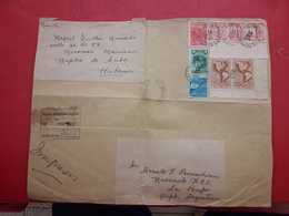 La Cuba Grand Enveloppe Circulé Avec Une Grande Quantité De Timbres - Cuba