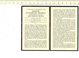 DP 7311 - ELISABETH DESMET - IZEGEM 1916 + 1973 - Images Religieuses