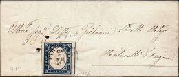 Regno D'Italia (1860) - Piego Per Monticelli D'Ongina Col Raro Bollo Di Arrivo Prefilatelico - Sardegna