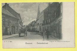 * Torhout - Thourout * (D.V.D. 8904 - Uitgever Th. Samyn De Borchgrave) Oostendestraat, Animée, Char, Café TOP - Torhout