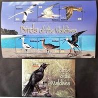 Maldives 2010** Mi.Klb.4806/11 + Bl.630. Birds Of The Maldives MNH [12;148,210] - Birds