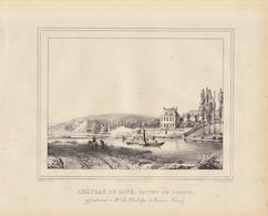 Gravure Ancienne Château De Belgique De Dave Namur à La Duchesse De Ferran Nunez - Documents Historiques