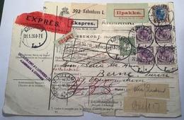 Denmark 1926 KJØBENHAVN Rare EXPRESS EKSPRES Parcel Post > Bern Schweiz (Danmark Brief Cover Dänemark - 1913-47 (Christian X)