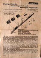 MÄRKLIN Anleitung Das Einpolige Anschluss System Spur 00 True Vintage 1947 - Elektrische Artikels