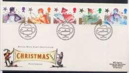 F0164)Grossbritannien FDC 1051/5 Weihnachten - FDC