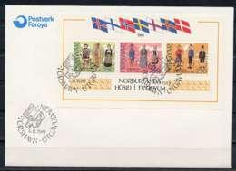 F0449)DK-Faeroer FDC Bl 1 - Färöer Inseln