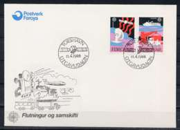 F0464)DK-Faeroer FDC 166/7 Cept - Färöer Inseln