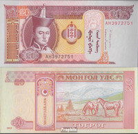 Mongolei Pick-Nr: 63g Bankfrisch 2013 20 Tugrik - Mongolei