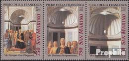 San Marino 1520-1522 Dreierstreifen (kompl.Ausg.) Postfrisch 1992 Weihnachten - Unused Stamps