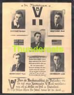 BIDPRENTJE SANDELE MESTDAGH DE CORTE MARMENOUT DEHENAUW GEFUSILLERD ROSQUEO 1944 40/45 WW II VERZET - Devotieprenten