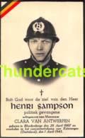 BIDPRENTJE HENRI SAMPSON POLITIEK GEVANGENE BLANKENBERGE CONCETRATIEKAMP VAN ESTERWEGEN 1945 - Devotieprenten