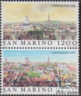 San Marino 1375-1376 Paar (kompl.Ausg.) Postfrisch 1987 Weltstädte - Kopenhagen - Neufs
