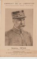 C.P.A. - EMPRUNT DE LA LIBÉRATION - LES VAINQUEURS DE LA MARNE - 1914 - 1918 - GÉNÉRAL PETAIN - COMMANDANT EN CHEF LES A - Guerra 1914-18