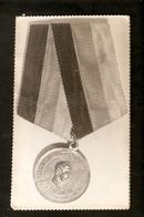 K Old 2 Photos Russian Imperial Badge Order Medal King Alexander Turkish War - Photographs