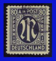 1945 - Alemania - Zona De Ocupacion - Bizona - Michel 34 - Sc. 3N19 - Oblitération Authentique Signé Schlegel. BTB- AL- - Zone Anglo-Américaine