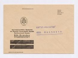 DDR Cover - Gebühr Bezahlt Beim HPA 7 DRESDEN, Agrarwissenschaftliche Gesellschaft Der DDR - DDR