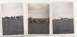 Tourinnes St Lambert - Débris De L' Appareil Du Capitaine Vanderlinden, Tué Au Cours Des Manoeuvres 15.2.1933 - 5 Photos - Aviación