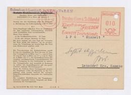 DDR Firmenkarte AFS - DRESDEN, Dresdner Eisen- U. Stahlhandel 13.4.62 - DDR