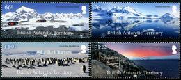British Antarctic Territory 2018 - Paysages Et Pingouins - 4 Val Neufs // Mnh Set - British Antarctic Territory  (BAT)