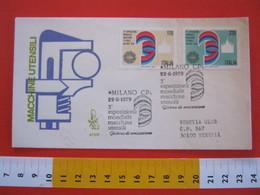 A.05 ITALIA ANNULLO - 1979 MILANO 3^ EXPO ESPOSIZIONE MONDIALE MACCHINE UTENSILI LAVORO WORK FDC - Esposizioni Universali