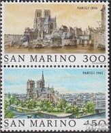 San Marin 1261-1262 Couple (complète. Edition.) Neuf Avec Gomme Originale 1982 Weltstädte: Paris - Saint-Marin