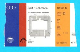 MEDITERRANEAN GAMES 1979. - WRESTLING Official Ticket * Jeux Mediterraneens Lutte Billet Lotta Lucha Ringen UWW Ex FILA - Lutte (Wrestling)