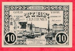 Belgique 10 Centimes Du 15/01/1918 Commune Lierre (Lier En Flamand) (billet De Nécéssité) UNC - [ 2] 1831-... : Regno Del Belgio
