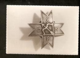 K. Old Real Photo Latvia Pin Order Badge Medal Token Of 8. Daugavpils Regiment Latvia Liberation Of Latgale - Photographs