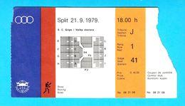MEDITERRANEAN GAMES 1979. - BOXING Ticket * Jeux Mediterraneens Boxe Boxeo Boxen Pugilato Giochi Del Mediterraneo - Boxe