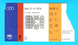 MEDITERRANEAN GAMES 1979. - BOXING Ticket * Jeux Mediterraneens Boxe Boxeo Boxen Pugilato Giochi Del Mediterraneo - Boksen