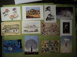 LOT D UNE TRENTAINE DE CPA / CPSM / CPM ILLUSTRATEURS OU ARTISTIQUES. 1922 / 1996 ARTISTES TELS MARIA ARMARAL / HENRY T - Illustrateurs & Photographes