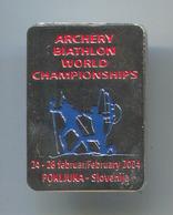BIATHLON ARCHERY - World Championships Pokljuka Slovenia, Pin, Badge, Abzeichen - Biathlon