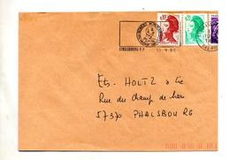 Lettre Flamme Strasbourg  Schuman - Postmark Collection (Covers)