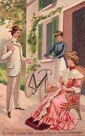 FANTAISIE. FEMME. COUPLE. VELO. BICYCLETTE   Carte En Achat Immédiat - Femmes