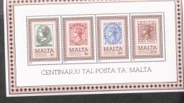 Malta Block 8 Briefmarken 100 Jahre Malta  ** MNH Postfrisch Neuf - Malta