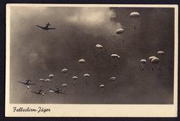 LUFTWAFFE - PARACHUTT PARATROOPER NAZI GERMAN OLD POSTCARD (see Sales Conditions) - Paracadutismo