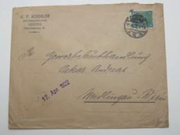 Firmenlochung , Perfin , Beleg Aus  Leipzig 1922 - Briefe U. Dokumente