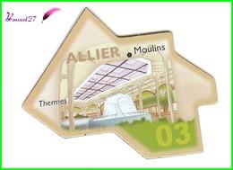 Magnet Le Gaulois Les Départements - 03 Allier Moulins Thermes - Magnets
