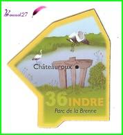 Magnet Le Gaulois Les Départements - 36 Indre - Châteauroux Parc De La Brenne - Magnets
