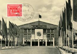 BERLIN - 25.6.1958 , V. Parteitag De SED In Der Werner Seelenbinder-Halle - MC Maximumkarte - [6] République Démocratique