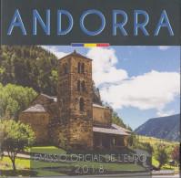 Andorra 2018 Stgl./unzirkuliert Official Kursmünzensatz Stgl./unzirkuliert 2018 Euro Reprint In Folder - Andorra