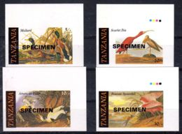 1986; Tanzanie, John Audubon - Birds; SPECIMEN Non Dentelé, Neuf **, Lot 80506 - Tanzanie (1964-...)