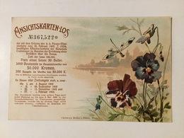 LOTTERY    POSTCARD   LITHO    AUSTRO - HUNGARIAN  MONARCHY     PRE-1904.    HELLER UND KRONEN - Lotterielose